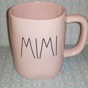 "Brand new Rae Dunn ""Mimi"" pink coffee mug"
